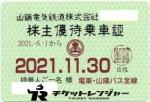 山陽電鉄株主優待(定期型)電車バス全線 2021年11月30日期限